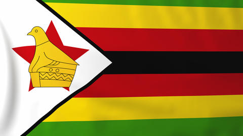 Flag of Zimbabwe Animation