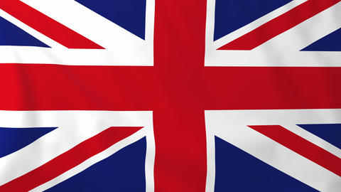 Flag of United Kingdom Animation