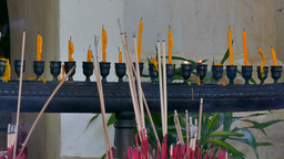 Wat Phra That Pu Khao, Chiang Saen stock footage