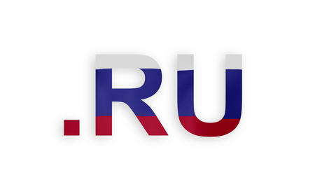 RU - Internet Domain Of Russia stock footage