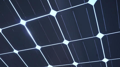 Sun light shine through solar cell roof Footage