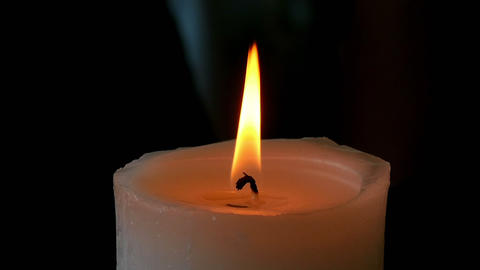 Candle Flame stock footage