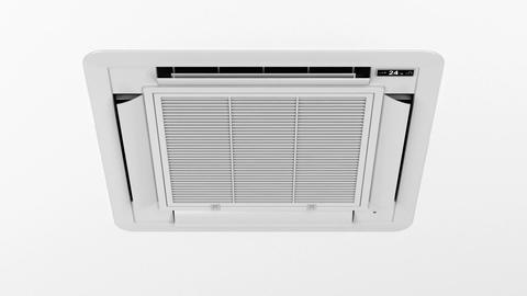Cassette type air conditioner Animation