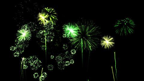Firework Show Animation - Loop Green Animation