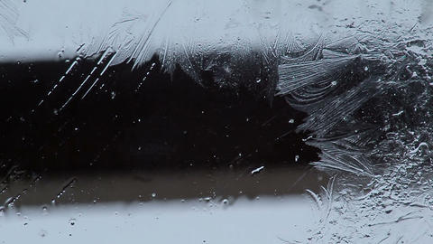 Frost on the glass Footage