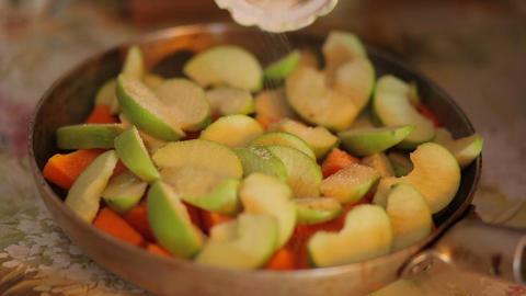 Pumpkin And Apples Casserole stock footage
