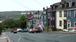 Canada Newfoundland St. John's 030 strong ascending street in residential distri Footage