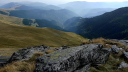 Walk in the mountains and valleys and mountains panorama 91 Footage