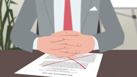 Cartoon Corporate / Businessman Facing Crisis Animation