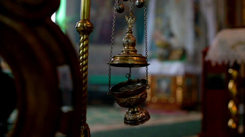 Censer. Orthodox chirch Footage