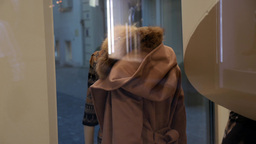 Coat at fashion boutique Footage