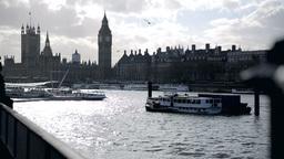 Southbank and Big Ben London Three Footage