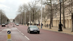 the Mall towards Buckingham Palace Footage
