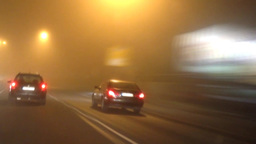 Timalapse Of Car Driving In City stock footage