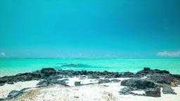 Timelapse of Parasailer at beautiful beach HD Footage