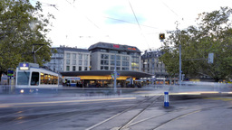 Timelapse of Zurich with Trams Footage