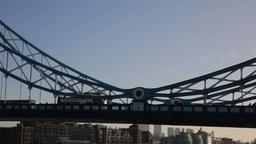 Tower Bridge London traffic with bus Footage