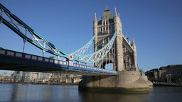 Tower Bridge London view from shad thames Footage