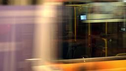 Tram in motion Footage