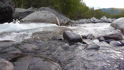 Water Running Down The River Scenery stock footage