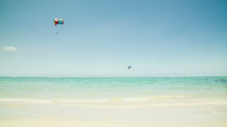 Watersport At Beach stock footage