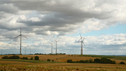 windmills with cloudy sky 2 Footage