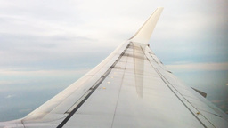 Wing Of Airplane In The Air stock footage