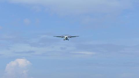 slow motion footage plane approaching landing Footage