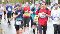 Frankfurt Marathon Run 07 stock footage
