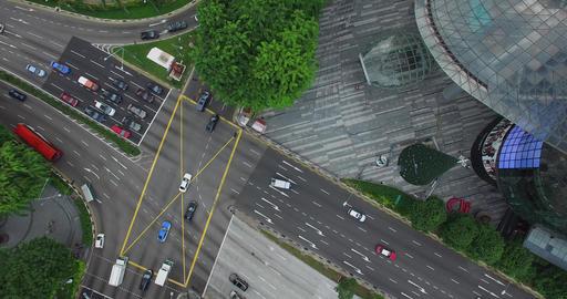 aerial 2 angles - tang plaza birds eye Footage