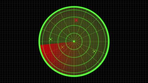 Science fiction design element sonar radar HUD panel Animation