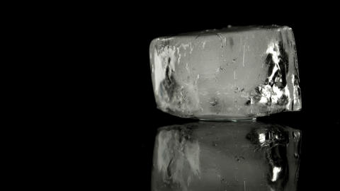 Ice Cube Melting stock footage