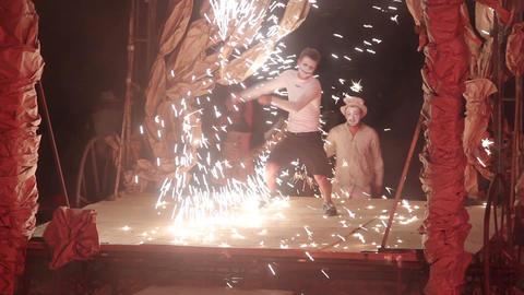 2673 fire show artist make performance Footage