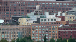 USA New York City 382 Manhattan Midtown Hudson River Facades Business Buildings stock footage