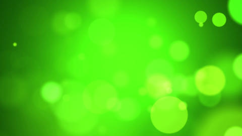 Green Abstract Lights Bokeh Background Loop CG動画素材