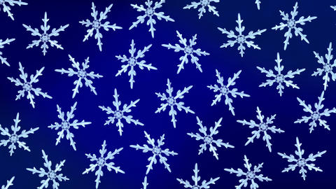 snowflakes background rotation blue Animation