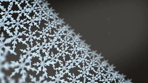snowflakes array tracking background black white Animation