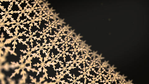 snowflakes array tracking background gold dark Animation