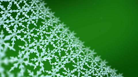 snowflakes array tracking background green Animation
