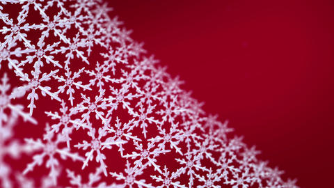 snowflakes array tracking background red Animation