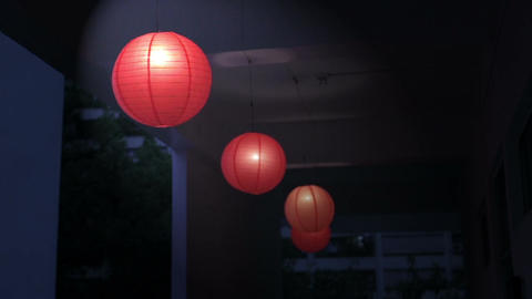 Chinese lanterns hanging Live Action