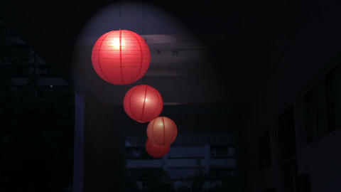 Red Chinese lanterns Footage