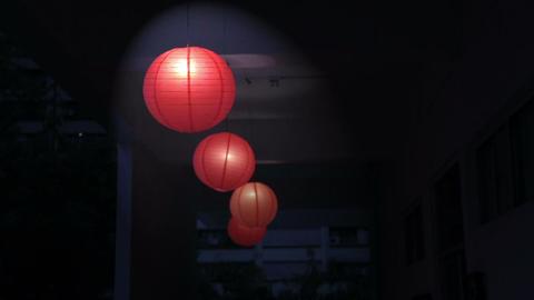Red Chinese lanterns Footage