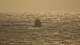 Fishing Boat In Ocean stock footage