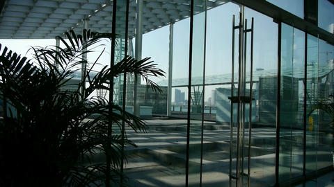 Luxury mall glass... Stock Video Footage