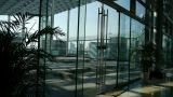 Luxury mall glass house,hall,Tower,overlooking,pots,fashion,wealth,Sun,shadow Footage