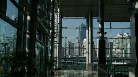 Luxury mall glass... Stock Video Footage