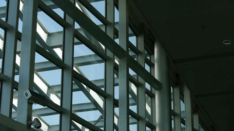 Roof of luxury mall glass... Stock Video Footage