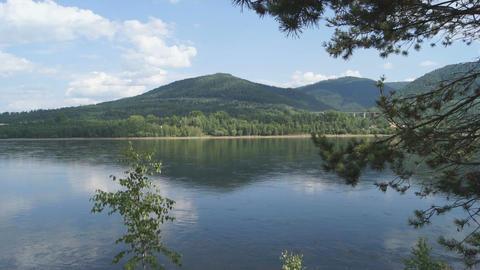 Yenisei River Landscape 03 Stock Video Footage