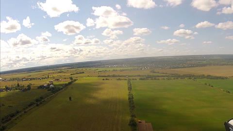 Flying over the Countryside, Bird's-eye Stock Video Footage